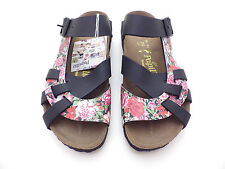 Papillio by Birkenstock PISA Bloomy Red/Black Narrow Width 36, 41 and 43