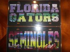 Florida Gators or Florida State Seminoles Stadium Photovision License Plates