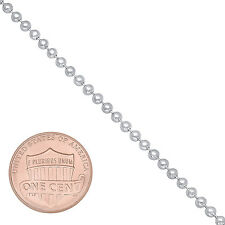 2.2 mm Solid 925 Sterling Silver Men Soldier Dog Tag Military Ball Bead Chain