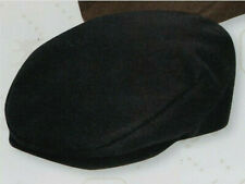 Stacy Adams SA21-BLK Cap Ivy Wool Melton Newsboy Satin Lined Hat M or L Black