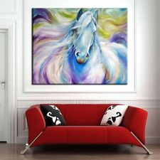 Handpainted Modern Abstract Animal Horse Oil Painting on Canvas 60cmx60cm