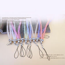 HOT! Crystal Rhinestone Mobile Cell Phone Key Badge Cords Strap Lariat Lanyard