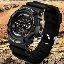 New Mens Stainless Steel LED Digital Date Waterproof Sports Quartz Wrist Watch
