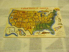 Melissa & Doug United States of America USA Wooden States Puzzle #95 Art Map