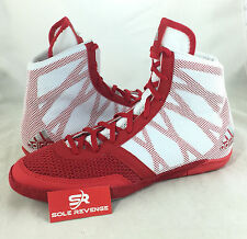 New ADIDAS PRETEREO 3 Wrestling Shoes MMA Boxing Red Silver White AQ3293