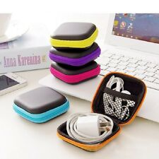 Mini Portable Earphone Bag Key Coin Purse Headphone Case Cable Storage Box