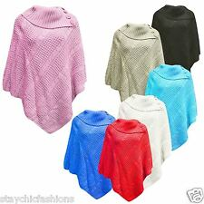 New Womens Ladies Casual Knitted Loose Neck Cashmere Poncho Coat Cardigan TOP