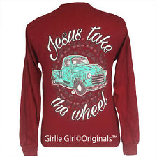"Girlie Girl Originals ""Jesus Take the Wheel"" Long Sleeve Unisex Fit T-Shirt"