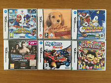 Nintendo DS Game Bundle - 6 Games - All Complete Includes Mario & Sonic