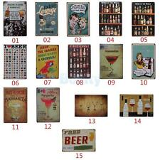 20x30cm Vintage Tin Sign Home Pub Bar Club Wall Decor Retro Metal Art Poster