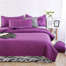 Purple Single Queen King Size Zip Bed Set Pillowcase Quilt Duvet Cover Zebra L