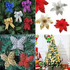 Assorted Festive Party Christmas Decorations Hanging Ornaments Xmas Tree Flowers