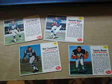 1962 post cereal football lot of 4
