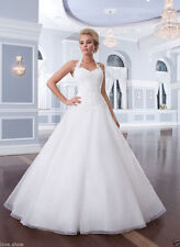 NEW Halter Wedding Dress Bridal Gown Custom Size 4 6 8 10 12 14 16 18 20 22
