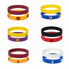 2PCS Popular Silicone Wristband Basketball Star Bracelet Rubber Hand Ring Band