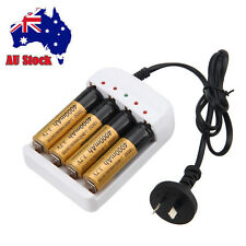 4x 18650 Rechargeable 4000mAh Battery Charger For LED Headlamp Flashlight Light