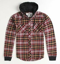 FOX RACING KIDS MEDIUM SIZE 5 CROSSWALK HOODED FLANNEL BOYS NWT