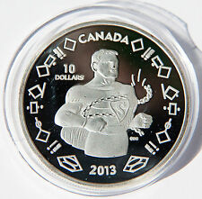 """2013 Canada $10 Silver Coin 75th Anniversary of Superman """"In Chains"""""""