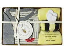BURTS BEES Infant/Newborn Boys 3-pc Organic Cotton Coverall Gift Boxed Set