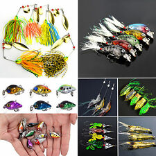 Mixed Fishing Lures Crankbaits Hooks Minnow Bass Baits Tackle Frog Shrimp Lures