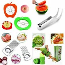 Apple Watermelon Onion Vegetable Cutter Holder Slicer Kitchen Tool Stainless FE