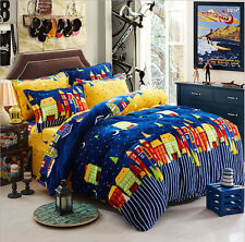 Lovely Style Flannel Plush Bed Pillowcase Quilt Cover Set Single Queen King