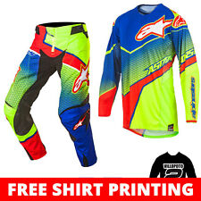 2017 Alpinestars Techstar Venom MX Motocross Kit Combo - Blue Flou Yellow Red
