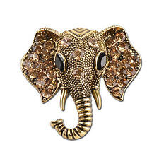 Antique Elephant New Women Brooch Pin Rhinestone Crystal Brooches Pins Jewellery