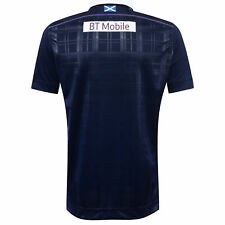 Macron Mens Gents Scotland Rugby Short Sleeve Home Shirt Jersey Top 2016-17
