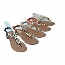 BB-A2 Women Sandals Gladiator Thong Flat Flip Flops T-Strap Strappy Size 5~10