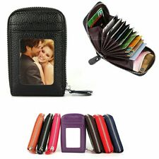 Mens/Womens Mini Leather Wallet ID Credit Cards Holder Organizer Purse Pounch