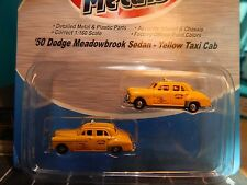 """Classic Metal Works Mini Metals N scale 1950 Dodge Taxis """"HARD TO FIND"""""""