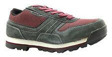 Gola Gallatin Low Women's Grey & Plum Lace Up Leather Trail Running Shoes New