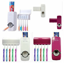 Toothbrush Holder New +5 Auto Rack Toothpaste Dispenser Wall Mount Stand Set