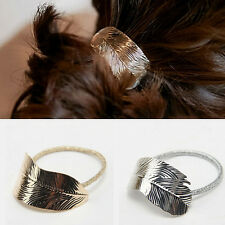 Accessories Lady Headband Ponytail Rope Elastic Hair Band Women Holder 2Pcs Leaf