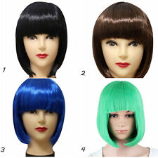 Women Lady Short Straight Hair BOBO Wig Full Wigs Cosplay Party Dress Stage Show