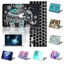 """3in1 Boho Decal Painted Rubberized Hard Case Cover Macbook Pro Air 11 12 13"""" 15"""""""