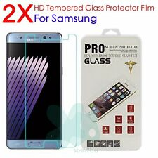 2X 9H Real Tempered Glass Guard Screen Protector Film For Samsung Note 7 5 4 3 2