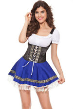 Sexy Oktoberfest Beer Maid Wench German Bavarian Bar Fancy Dress Costume