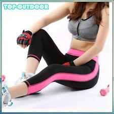 Stretch Yoga Pants Sports Fitness Pants Gym Clothes Spandex Running Tights