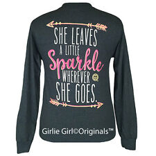 "Girlie Girl Originals ""Sparkle"" Long Sleeve Dark Heather Unisex Fit T-Shirt"