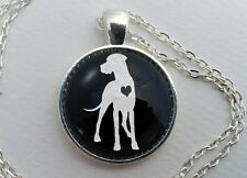 Custom Great Dane Necklace, Glass Dome Jewelry, Dog Lover Gift, Pet Memorial