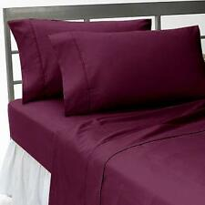 1000 THREAD COUNT,EGYPTIAN COTTON,4PCs SHEET SET EXTRA DEEP POCKET,WINE SOLID