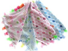 SOFT TOUCH BABY COMFORTER BLANKET BOY GIRL TAGGY-BLUE OR PINK -CUTE DESIGN - NEW
