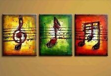 3 piece Large canvas Modern hand-draw Art Oil Painting Wall Art Decor,Music