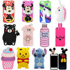 Hot3D Cute Cartoon Animals Soft Silicone Case Cover Back Skin For iPhone Samsung