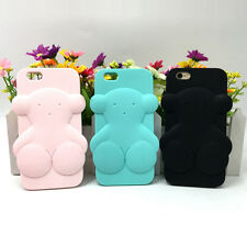 Cute 3D Cartoon Animals Tous Bear Soft Silicone Case Cover Back Skin For iPhone