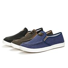 New Fashion Loafers Mens Canvas Slip-On Boat Flats Outdoor Travel Leisure Shoes