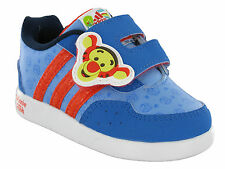 Kids Boys Disney Winnie AC 1 Blue / Red Touch fastener Cushion Trainer Shoes