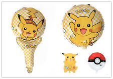 Lovely Pikachu Pokemon Foil Balloon Kids Baby Boy Girl Party Favor Supply Props